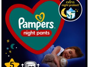 Pampers Night Pants Μέγεθος 5 (12kg-17kg) – 22 Πάνες-Βρακάκι