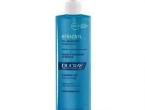 Ducray Keracnyl Gel Moussant – 400ml.Αφρώδες Καθαριστικό για πρόσωπο και σώμα για ευαίσθητο δέρμα με τάση για ακμή