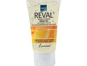 Intermed Reval Hand Gel Lemon,Αντισηπτικό Τζελ Χεριών με Άρωμα Λεμόνι, 30ml