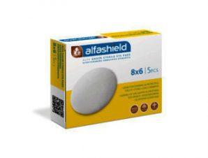 Karabinis Alfashield Alfa Gauze Sterile Eye Pads 8×6 ,Αποστειρωμένα Οφθαλμικά Επιθέματα 5τμχ