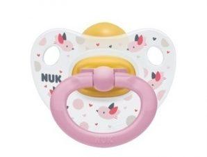 Nuk Classic Happy Kids Πιπίλα Καουτσούκ 18-36m – Pink (10.737.846)