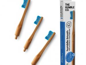 The Humble Co- Οδοντόβουρτσα με λαβή & 3 αντικαταστάσιμες κεφαλές blue (soft)