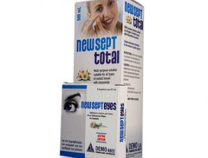 Demo – Newsept Total -Διάλυμα πολλαπλών χρήσεων για όλους τους φακούς επαφής 500ml & ΔΩΡΟ Οφθαλμικές Σταγόνες μιας δόσης 5 περιέκτες των 0,5ml