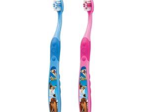 Elgydium Kids Ice Age Οδοντόβουρτσα για παιδιά ηλικίας 2 -6 ετών, 1 τμχ Χρώμα. Μπλε
