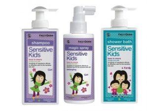 Frezyderm Σετ για Κορίτσια Sensitive kids Shampoo 200ml + Magic Spray 150ml + Shower Bath 200ml