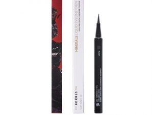 Korres – Liquid Eyeliner Pen 01 Black – Αδιάβροχο eyeliner σε μορφή μαρκαδόρου για έντονο αποτέλεσμα και εύκολη, ακριβή εφαρμογή που διαρκεί όλη τη μέρα. 1ml