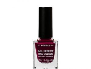 Korres Gel effect nail Colour – 72 Cherry Brandy Rose -11ml