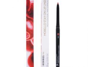 Korres Morello Stay-On Lip Liner 01 Nude Μολύβι Χειλιών 0,35g – Αδιάβροχο μηχανικό μολύβι χειλιών με μεγάλη διάρκεια που προσφέρει ακρίβεια στον σχεδιασμό και τονίζει το περίγραμμα των χειλιών.