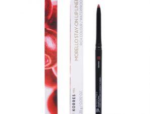 Korres Morello Stay-On Lip Liner 03 Wine Red Μολύβι Χειλιών 0,35g – Αδιάβροχο μηχανικό μολύβι χειλιών με μεγάλη διάρκεια που προσφέρει ακρίβεια στον σχεδιασμό και τονίζει το περίγραμμα των χειλιών
