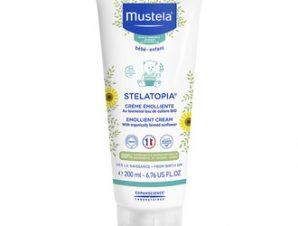 Mustela Stelatopia Creme Emoliente – Μαλακτική κρέμα για Ατοπικό Δέρμα με Ηλίανθο Βιολογικής Καλλιέργειας- 200ml