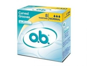 Ob Ταμπόν Curved Grooves, Normal. 8τεμ