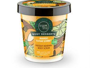 Natura Siberica – Organic Shop Body Desserts Mango Sugar Sorbet , Μάνγκο & Ζάχαρη Απολεπιστικό σώματος άμεσης ανανέωσης , 450ml