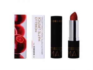 Korres Morello / Matte Lipstick 34 Cashmere Cream- 3.5g