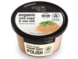 Natura Siberica – Organic Shop Foamy body polish Cane Sugar Cosmos Natura, 250 ml