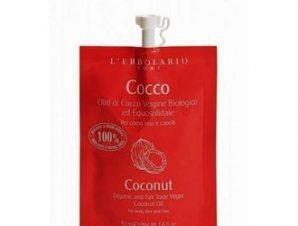 L'Erbolario Cocco – Olio di Vergine Biologico ed Equosolidade – Οργανικό έλαιο Cocco για μαλλιά πρόσωπο και σώμα – 50ml