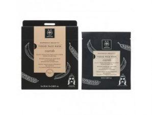 Apivita Express Beauty Tissue Μάσκα Προσώπου για Αποτοξίνωση & Καθαρισμό με Χαρούπι