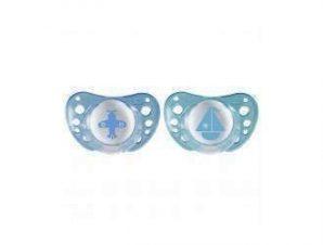 Chicco Physio Air Ορθοδοντική Πιπίλα 0-6m- Μπλε- 2τμχ
