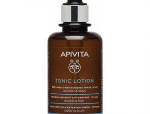 Apivita Tonic Lotion Soothing & Moisturizing Toner 200ml,Καταπραϋντική και Ενυδατική Λοσιόν Προσώπου με Λεβάντα και Μέλι