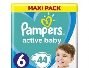 Pampers Active Baby-Dry Πάνες Μέγεθος 6 (Maxi) 13-18 Kg 44 Πάνες