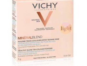 Vichy Mineralblend Healthy Glow Tri-Colour Powder ( Light ) / Τρίχρωμη πούδρα για φυσική λάμψη / 9g /