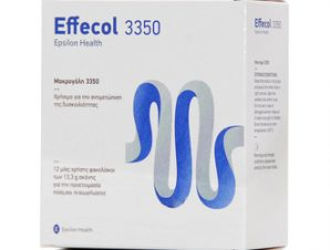 Effecol 3350 / Για την αντιμετώπιση της περιστασιακής και χρόνιας δυσκοιλιότητας όλων των τύπων/ 12 sachets x 13.3gr