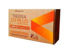 Terra – D3 PLUS – 2.000IU Vitamin D3 – 60 softgels