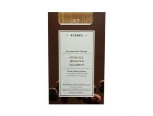 Korres N:8.7 (Καραμέλα). Νέα Μόνιμη Βαφή Μαλλιών με Έλαιο Argan.