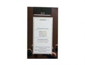 Korres N:5.0 (Καστανό Ανοικτό). Νέα Μόνιμη Βαφή Μαλλιών με Έλαιο Argan.