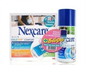Nexcare Comfort 2σε1 Θερμοφόρα/Παγοκύστη. 26cm x 11cm & Δώρο Nexcare Coldspray 150ml
