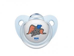 NUK Disney Baby 6-18m Πιπίλα Σιλικόνης ελεφαντάκι ( 10.736.573) – blue
