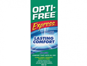 Optifree Express 355ml,Διάλυμα Απολύμανσης Φακών Επαφής Πολλαπλών Χρήσεων