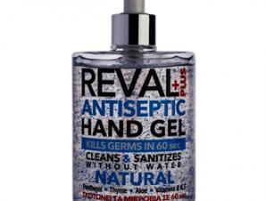 Reval Antiseptic Hand Gel Natural Άμεση αντιβακτηριδιακή προστασία χωρίς τη χρήση νερού -500ml