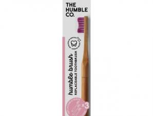 The Humble Co- Οδοντόβουρτσα με λαβή & 3 αντικαταστάσιμες κεφαλές Ροζ (soft)