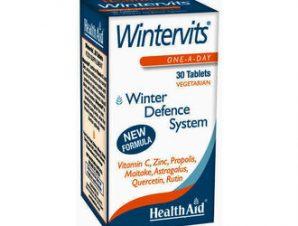 Health Aid Wintervits 30 tabl.Ενίσχυση Ανοσοποιητικού με Βιταμίνη C, Ψευδάργυρο, Πρόπολη, Μαϊτάκε, Αστράγαλο, Κουερσετίνη