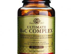 Solgar Ultimate B+C Complex Συμπλήρωμα Διατροφής Ισχυρή Αντιστρές Φόρμουλα tablets – 90 tabs