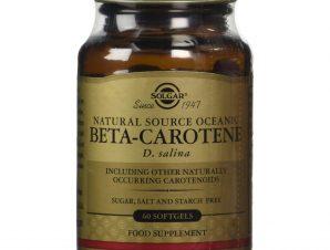 Solgar Beta Carotene 7mg Συμπλήρωμα Διατροφής με Φυσικής Πηγής Βήτα Καροτίνη softgels – 60softgels
